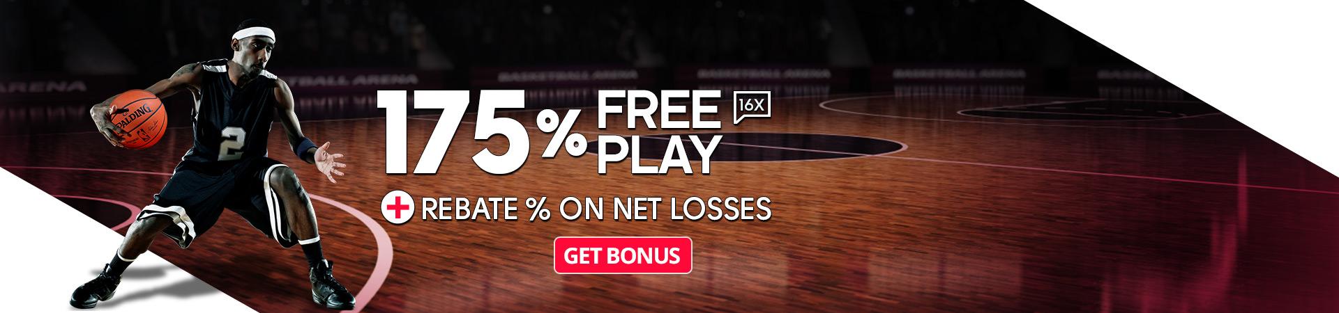 NBA is Back 175 Free Play + Rebate