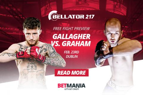 Bellator Euro Series Dublin: Gallagher vs Graham Betting Odds